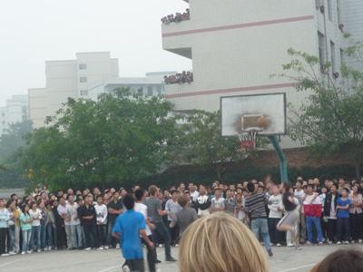 Das Basketball-Match